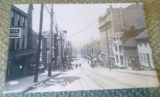 Old Connellsville PA. Main Street View (Porter Photographer) Postcard Repo