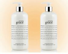 Philosophy Amazing Grace Body Firming Emulsion Duo (Two 16 OZ. Bottles)  NEW