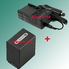 5Hr Battery + Charger For Sony Handycam DCR-SR47 DCR-SR47E HDR-XR500V HDR-SR10