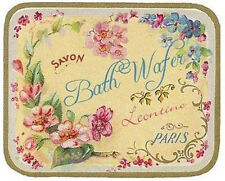 VinTaGe IMaGe FreNcH PoWDeR RooM SoaP LaBeLs SHaBbY WaTerSLiDe DeCALs