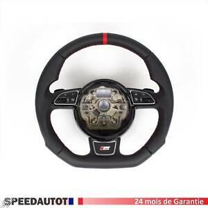Tuning Aplati Volant Cuir S-LINE Audi A1 A6 A7 A8 DSG Echange standard-