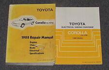 1988 Toyota Corolla FX / FX16 Service Repair Manual Set