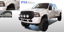 BLACK TEXTURED Pocket Rivet Fender Flares 99-07 Ford F-250, F-350 Super Duty 4pc