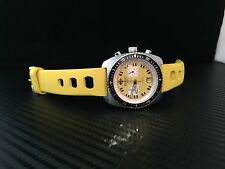 ZODIAC SEA DRAGON MEN'S  CHRONOGRAPH WATCH WITH YELLOW Dial Awesome!!
