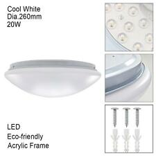 LED Oyster Ceiling Light Fitting 20W Slimline 6000K Cool White Surface Mount@GN