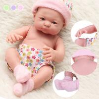 26cm Reborn Toddler Girl Baby Doll Lifelike Soft Silicone Vinyl Newborn Kids