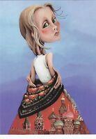 RARE Russian Beauty Fantasy girl in dress by Balashko Russian modern postcard