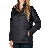 Lauren James Anorak Jacket BLACK Water Resistant Women's Sz S-XL NWT