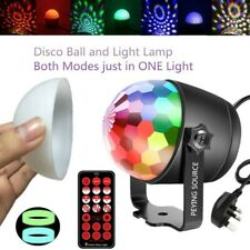 Disco Ball Night Lamp 2 In 1 Night Light Disco Light 6 Colours + Controller New