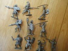 Reamsa  - 54mm Roman Infantry, 10 Silver Soldiers, 60mm--New