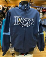 Majestic MLB Tampa Bay RAYS Thermal Winter Jacket Mens Large