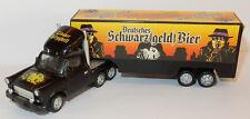 HÜMMER HO 1/87 TRABANT + REMORQUE DEUTSCHES SCHWARZ GELD BEER LÖBAUER BERGQUELL
