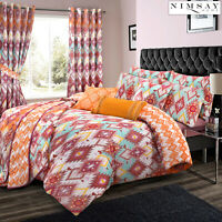 Navajo Ethnic Boho Multi Colour Soft 100% Cotton Quilt Duvet Cover Bedding Set