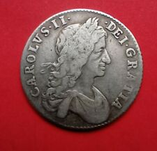 More details for crown - charles ii british silver coin