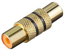 Goobay® Audio Adapter Verbinder 2* Cinch Chinch Kupplung schwarzer Ring