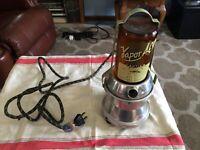 Vintage Vapor All Vaporizer Electric Humidifier Model EV6 Amber Glass Jar Works!