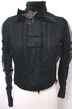 Rare Victorian NAT'L CLOAK & SUIT CO Black Net Lace US Pat Beaded Bow Blouse