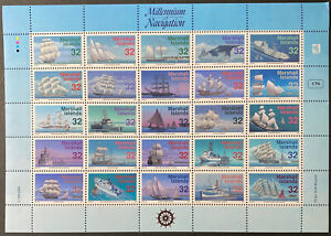 MARSHALL ISLANDS  680 Beautifuil Mint NEVER Hinged Sheet SHIPS UPTOWN