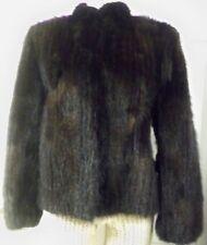 Saga Genuine Murano Mink Jacket Black Brown Fur Origin Denmark Made Korea Sz M