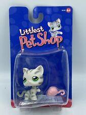Hasbro 2004 LITTLEST PET SHOP LPS NEW MOC Blister NEUF : Chat Rayé Gris