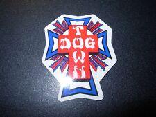 "DOGTOWN dog town Skate Sticker Blue Red Cross 2 X 1.5"" skateboards helmets decal"