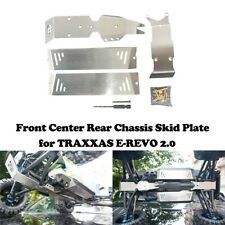 Stainless Skid Plates for Front Center Rear Chassis for TRAXXAS E-REVO 2.0