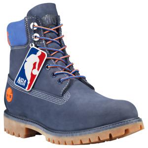 New Timberland Boots NBA New York Nicks Waterproof Dark Blue Nubuck TB0A2493E09