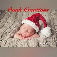 Crochet Newborn Baby Santa Hat Christmas Photography Prop Or Gift