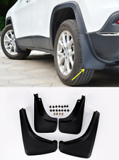 For Jeep Cherokee 2014-2017 ABS Black Splash Guards Mud Flaps Fenders Trim 4PCS