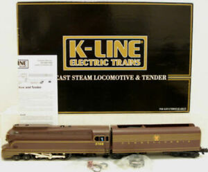 K-Line K3380-3768IC Pennsylvania Torpedo Steam Locomotive & Tender LN/Box
