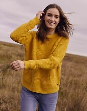 Joules Mujer Trébol Fluffy Pointelle Jersey-Oro