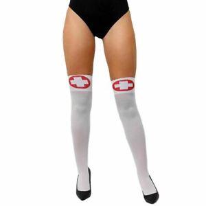 womans sexy nurse stockings fancy dress hen night doctors hospital nurses
