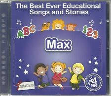 THE BEST EVER EDUCATIONAL SONGS & STORIES PERSONALISED CD - MAX - ABC 4 ME