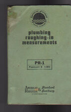 Plumbing Roughing-In Measurements Pr-1 American Radiator & Standard Sanitary