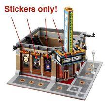 Custom stickers 4 LEGO 10232 Cinema Palace Modular building Iron Man Star Wars