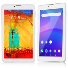"""White 7"""" 4G LTE Android 9.0 Pie Tablet Dual Camera WiFi HDMI Google Play Store"""