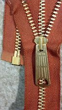 "1-ZIPPER USA Vtg""TALON BELL LONG-TAB""Jacket/Separating#5Metal BRASS24""COTTON/RST"