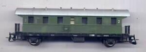 """2achsiger Personenwagen ("""" Donnerbüchse """") der DB, grün für TT (TT-2034)"""