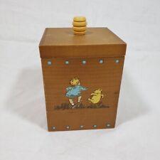 Disney Classic Pooh Wooden Trinket Box Charpente Nursery Bedroom Storage Decor
