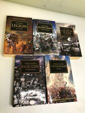Lot of 5- The HORUS HERESY books WARHAMMER 40,000 40k- False Gods, Thousand Sons