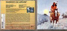 FABRIZIO DE ANDRE CD same INDIANO omonimo EDIZIONE 2002  BMG RICORDI 24 BIT