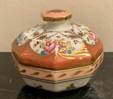 Vintage Sevres French Porcelain Hand Painted Octagonal Lidded Box