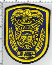 Rock Springs Police (Wyoming) 3rd Issue Shoulder Patch from the 1980's