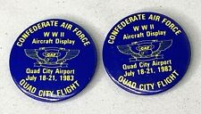1983 Confederate Air Force Quad Cities Flight Button Pins