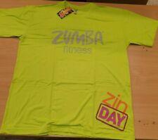 Zumba FITNESS ZIN DAY T-shirt - LIME PUNCH SIZE LARGE/XLARGE