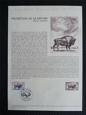 FRANCE CEF 1974 BISON WISENT ERSTTAGSBLATT SAMMELBLATT DOCUMENT z939