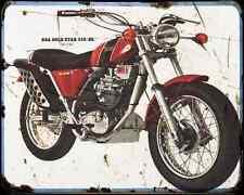 Bsa B25Ss 01 A4 Photo Print Motorbike Vintage Aged