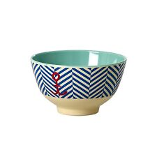 RICE Melamine small bowl in sailor stripe print - combined postage available