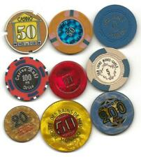 Collection Of 9 Different Casino Type Chips Or Jetons I Think Are From France #9