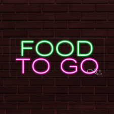 "Brand New ""Food To Go"" 32x13X1 Inch Led Flex Indoor Sign 30060"